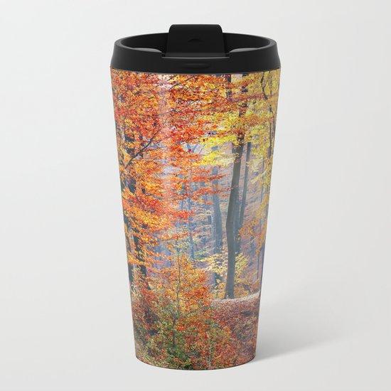 Colorful Autumn Fall Forest Metal Travel Mug