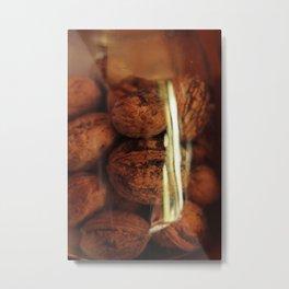 Nuts in a jar Metal Print