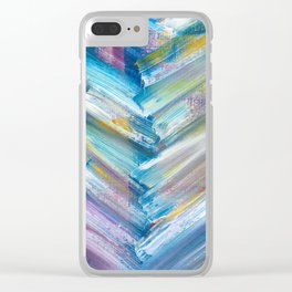 Modern Herringbone (Bright) Clear iPhone Case