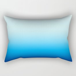 Ombre Blue with Turquoise Rectangular Pillow