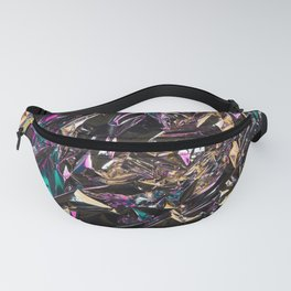 Abstract crumpled foil background. Chameleon color Fanny Pack