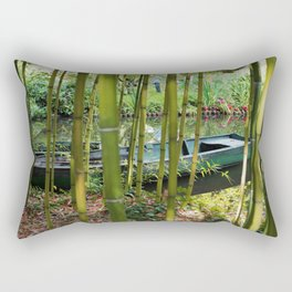 Monet's Boat Rectangular Pillow