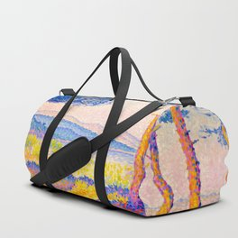 Henri-Edmond Cross Neo-Impressionism Pointillism Pines Along the Shore Oil Painting Duffle Bag