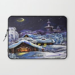 Winter in the village # 5 Laptop Sleeve