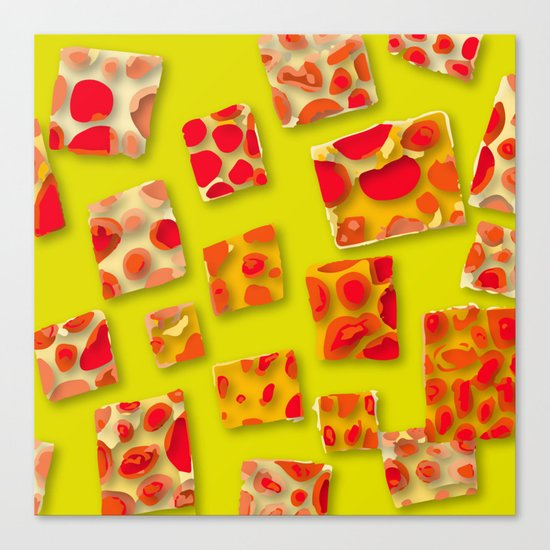 red spotted rectangles Canvas Print