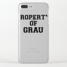 Property of GRAU Clear iPhone Case