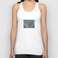 bali Tank Tops featuring Bali Map Art Painting  by Rothko