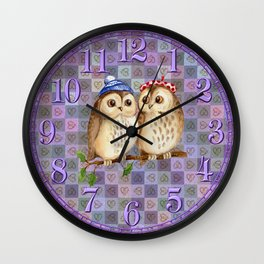 Owl Nature Lovers Wall Clock