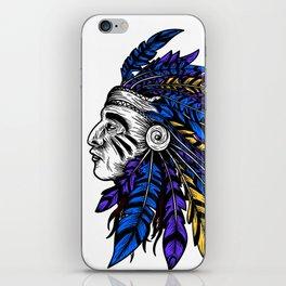 American Native Chieftain Head iPhone Skin