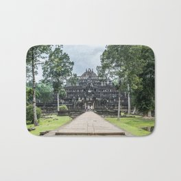 Tourists at Baphuon Temple at Angkor Thom I, Siem Reap, Cambodia Bath Mat