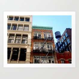 Looking up around SoHo in NYC Art Print