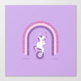 Unicycle Unicorn Canvas Print
