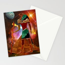 Ancient Secrets THOTH 3D Scifi Egyptian Stationery Cards