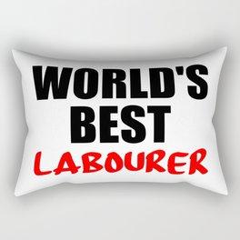 worlds best labourer Rectangular Pillow