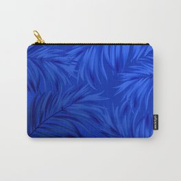 Palm Tree Fronds Brilliant Blue on Blue Hawaii Tropical Décor Carry-All Pouch