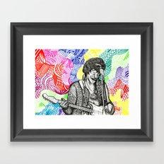 'Scuse me while I kiss the sky... Framed Art Print