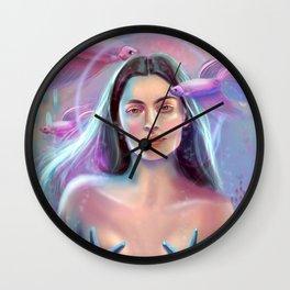 Space Mermaid Wall Clock