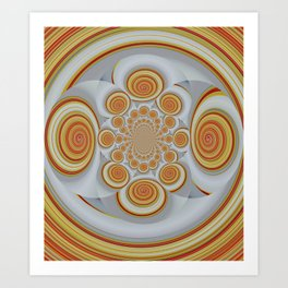 ornament in orange Art Print