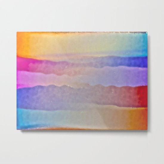 Soft Stripes Metal Print