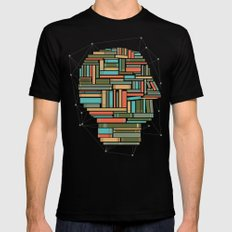 Socially Networked. Black Mens Fitted Tee MEDIUM