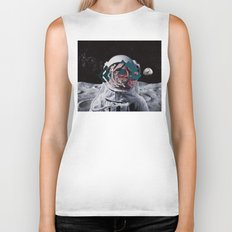 Spaceman oh spaceman, come rescue me (teal) Biker Tank