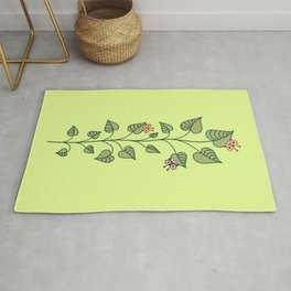 Cute Bugs Eat Green Plant Nature Lover Rug