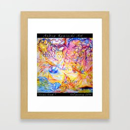 Cosmic Crash - Andrew Kaminski Art - Print of Oil Painting Framed Art Print
