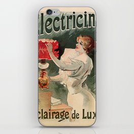 Electricine, French luxury lighting vintage ad iPhone Skin
