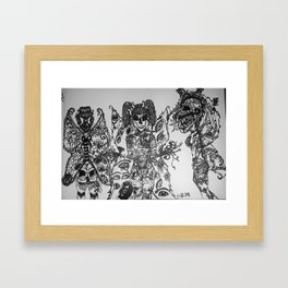 Scary Faries Framed Art Print