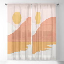 Abstraction_SEASIDE Sheer Curtain