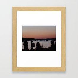 In a Rush Framed Art Print