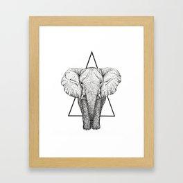Wisdom Elephant Framed Art Print