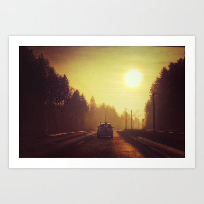 Chase The Sun Art Print