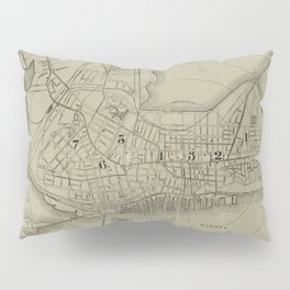Vintage Map of Portland Maine (1902) Pillow Sham
