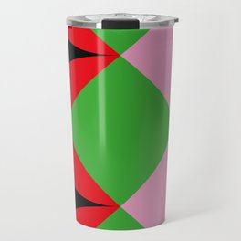 A lot of squares, some curves, colors etc... I see butterflies here. Travel Mug