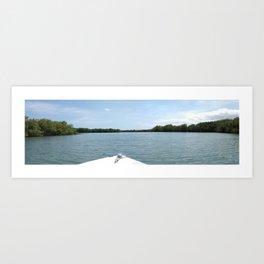 The Fisherman estuary Art Print