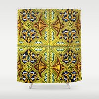 casablanca Shower Curtains featuring Arabic Tiles by Barbo's Art