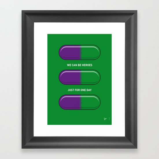 My SUPERHERO PILLS - The Hulk Framed Art Print