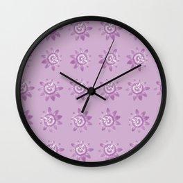 Lavender pattern Wall Clock