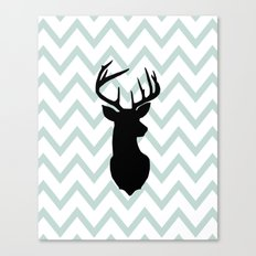 Chevron Deer Silhouette Canvas Print