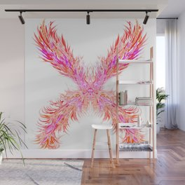 "Fire Red ""X"" Wall Mural"