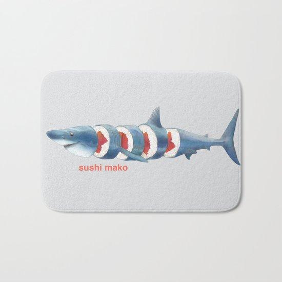 Sushi Mako (color option) Bath Mat