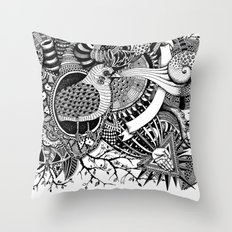 Blackbird's heart l Throw Pillow