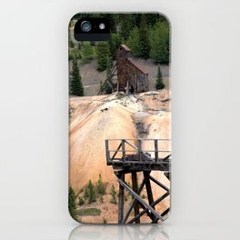 1880's Gold Rush - Mine Headshaft on Red Mountain from the Idarado Ore Cart Track iPhone Case