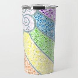 Dotty Rainbow and Swirly Cloud Travel Mug