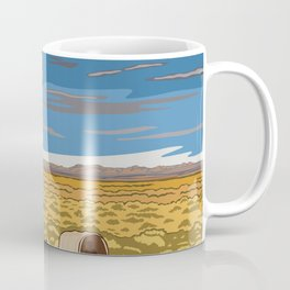 Vintage Poster - The Oregon National Historic Trail, Wyoming (2015) Coffee Mug