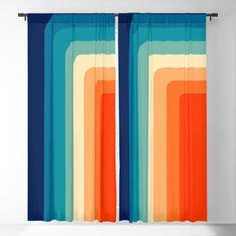 80s Vintage palette Blackout Curtain