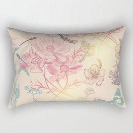 Vintage garden or field. Fantasy floral illustration Rectangular Pillow