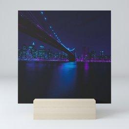 Future Skyline Cyberpunk City Mini Art Print