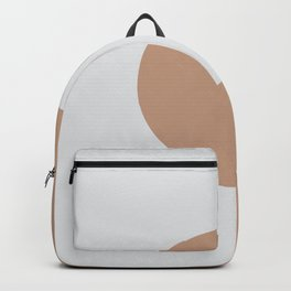 Brown Off White Minimal Half Circle Design 2021 Color of the Year Canyon Dusk & Dutch White Backpack